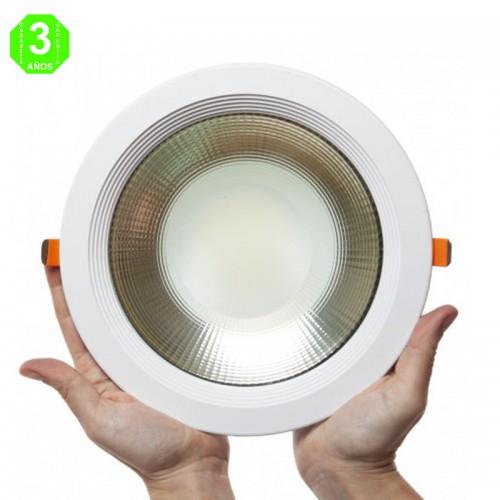 Foco Downlight Circular LED Bridgelux Cob UGR19 10W 100Lm/W 50.000H