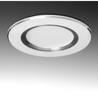 Foco Downlight LED Circular 3W Ø98mm 240Lm 30.000H Aro Plateado