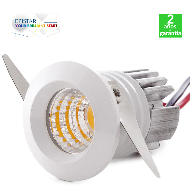 Foco Spot Downlight LED Empotrable 2W 180Lm 35x45mm Corte 30mm 30.000H