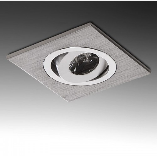 Foco Downlight Cuadrado de 1W 90Lm serie Multiled Leds Hig Power 60x60mm Corte 42x42mm 30.000H