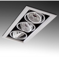 Foco Downlight Rectangular tipo Kardam 9W 900Lm serie Multiled Leds Hig Power 301x113mm Corte 277x90mm 30.000H