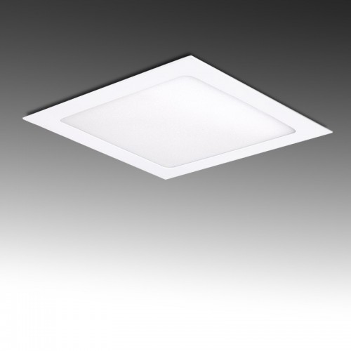Foco Placa Downlight LED Cuadrado 12W 860Lm serie ECO SMD2835 170x170mm Corte 153x153mm