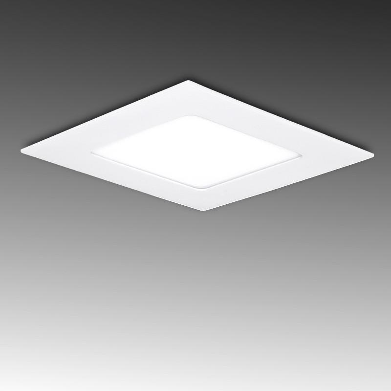 Foco Placa Downlight LED Cuadrado 6W 400Lm serie ECO SMD2835 120x120mm Corte 101x101mm