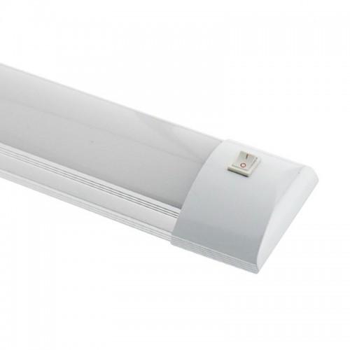 Luminaria de LEDs Lineal de 36W 3600Lm con Interruptor de Superficie de 1200x75x30mm 30.000H