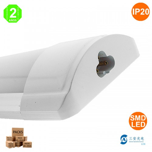 Luminaria LED Lineal 40W Enlazable 1200x75x30mm 50.000H Extraplano