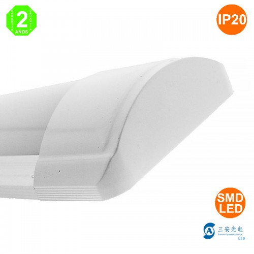 Luminaria LED Lineal 40W 100Lm/W 1200x75x30mm 50.000H Extraplano