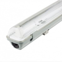Luminaria Pantalla Estanca para 1 Tubo LED IP65 1200mm ABS/PC