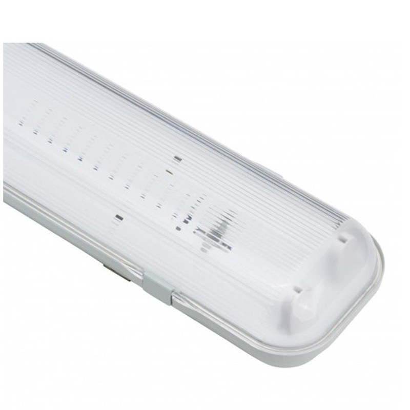 Luminaria Pantalla Estanca para dos Tubos LED 1500mm ABS/PC Serie ALLM