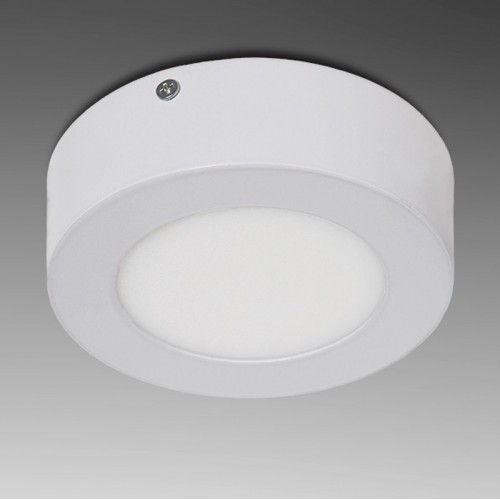 Plafón de Leds Circular para superficies de 6W 470Lm Ø120mm 30.000H Serie 12VDC. (ideal Techos y paredes)