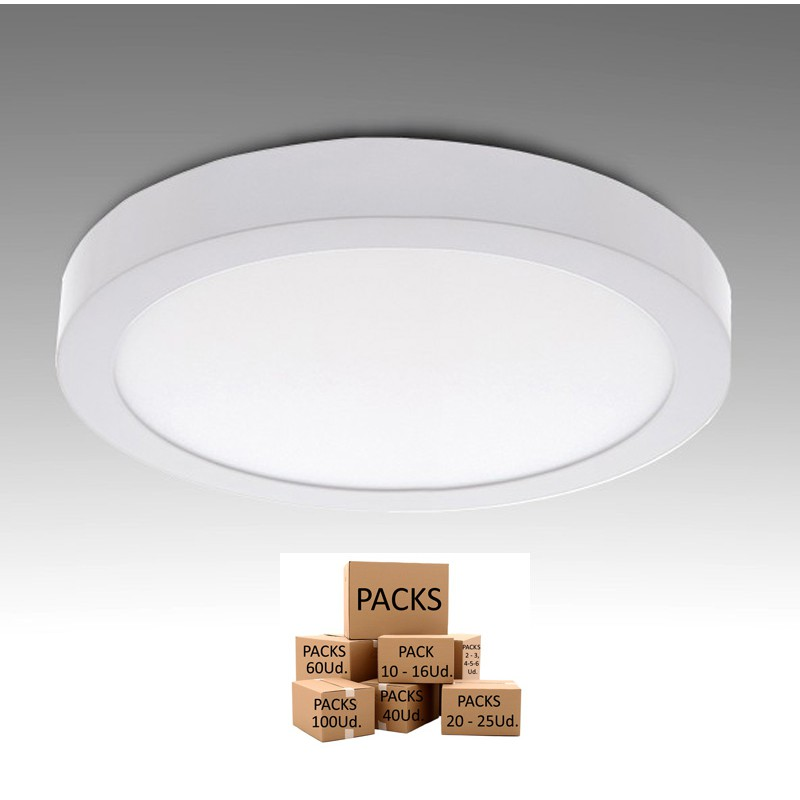 Plafón Led Circular 12W 930Lm 30.000H Serie Eco Disponible en unidades y Pack