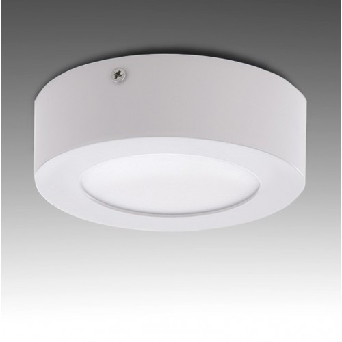 Plafón de Leds Circular para superficies de 6W 470Lm Ø120mm 30.000H Serie Eco (ideal Techos y paredes)
