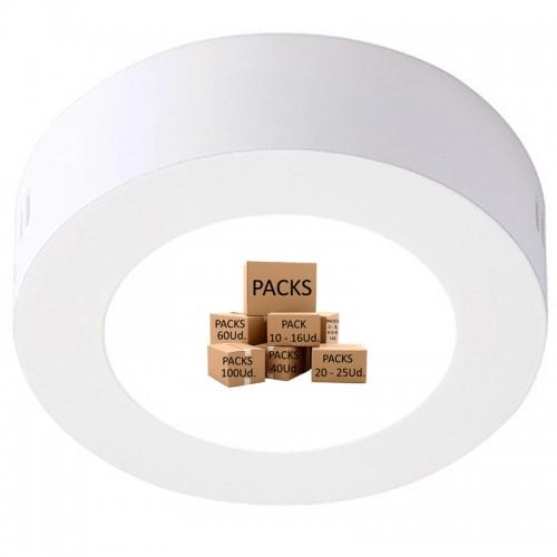 Plafón Led Circular 6W 600Lm 30.000H Serie Eco Disponible en unidades y Pack