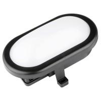Plafón Led OVAL 10W 700Lm IP54 Luxtar Negro 40.000H