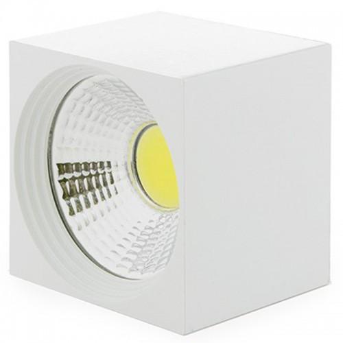 Foco Plafón Cuadrado de Leds COB de 3W 270Lm para superficies Cuerpo Blanco