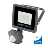 Foco Proyector LED 10W 800Lm IP66 EPISTAR Lexsir Regulable Sensor PIR 50.000H