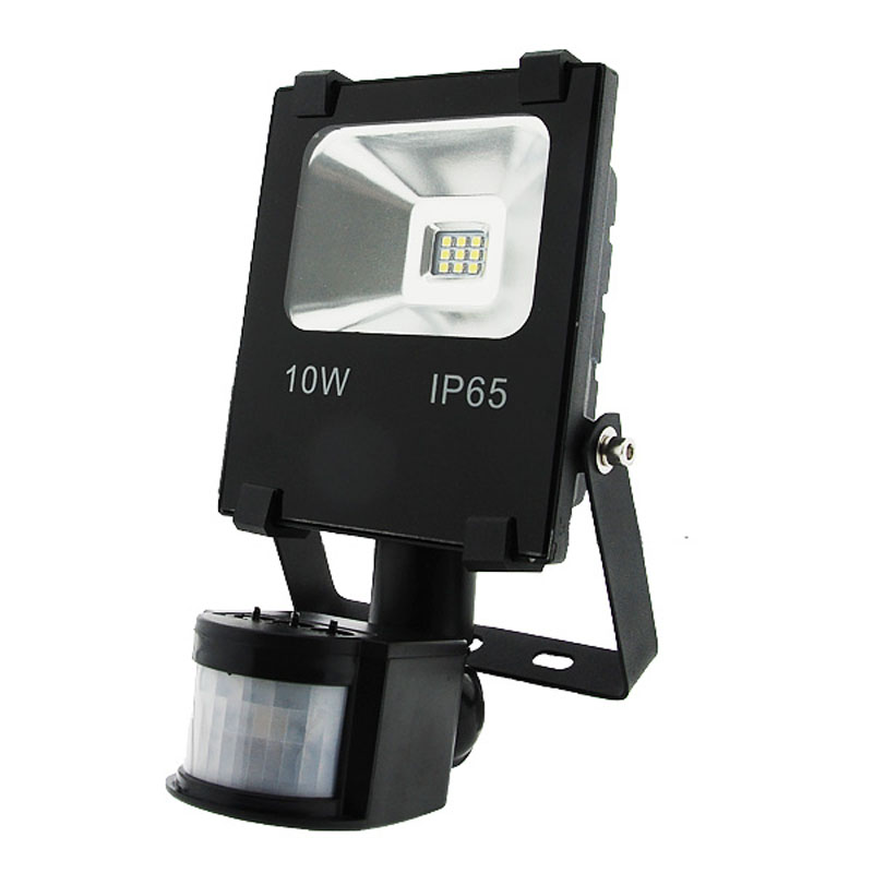 Foco Proyector LED 10W 920Lm SMD Detector Movimiento 30.000H