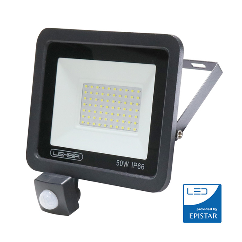 Foco Proyector LED 50W 4000Lm EPISTAR Regulable Lexsir Sensor PIR 50.000H
