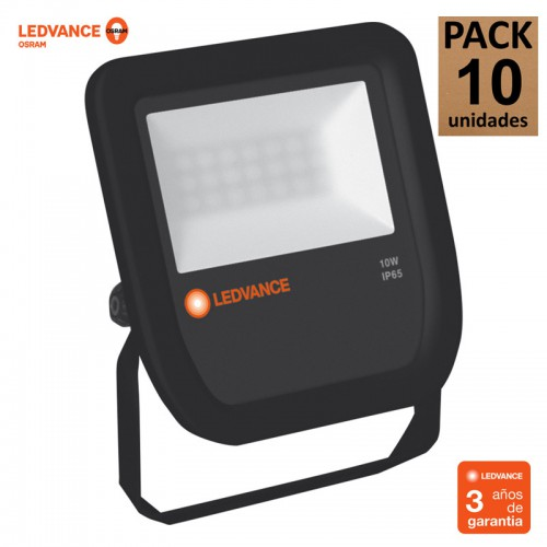 Proyector Ledvance 10W 1200Lm IP65 Negro 50.000H Serie FLOODLIGHT