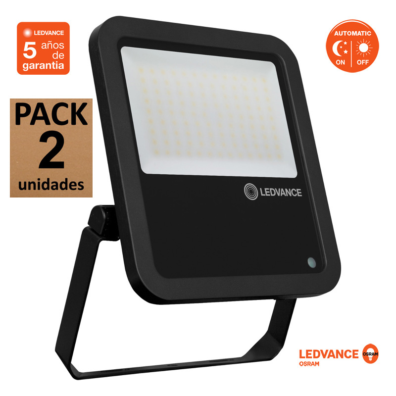 Proyector Ledvance 80W 10000Lm IP65 55.000H Serie FLOODLIGHT PHOTOCELL