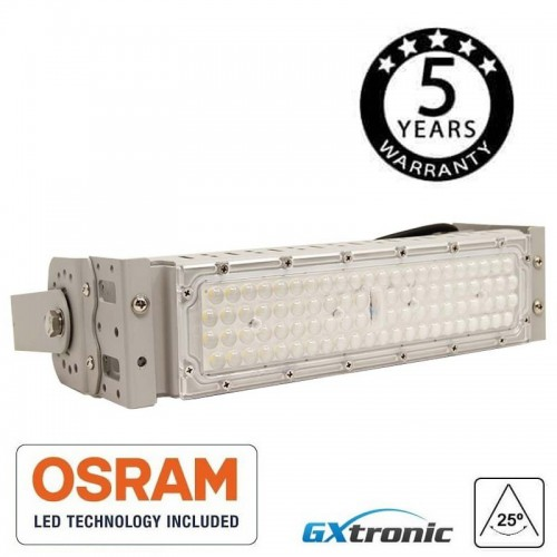 Foco Proyector 50W MAGNUM AIR LED OSRAM CHIP SMD 3030-3D 25° 60° 136°x78° IP65 180/150Lm/W 50.000H Serie PRO