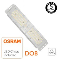 Modulo Proyector LED 50W IP67 DOB MAGNUN OSRAM SMD3030-3D 60° 90° 180Lm/W Serie PRO