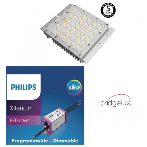 Modulo Óptico LED 10-65W SMD 5050-8D BRIDGELUX Driver Philips Programable IP65 90°- 90° Serie PRO