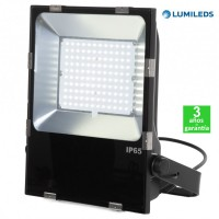 Foco Proyector LED 100W 120Lm/W IP65 Luxeon Lumileds SMD3030-2D Regulable Slimline