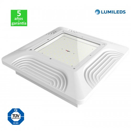 Foco Proyector LED Superficie 80W 10400Lm 130Lm/W Lumileds Serie PRO Especial Gasolineras/Doseles