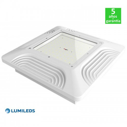 Foco Proyector LED 100W 130Lm/W Lumileds Empotrable Especial Gasolineras/Doseles Serie PRO