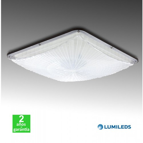 Foco Proyector LED Empotrable 100W IP65 110Lm/W Lumileds/Meanwell Gasolineras/Doseles Serie PRO