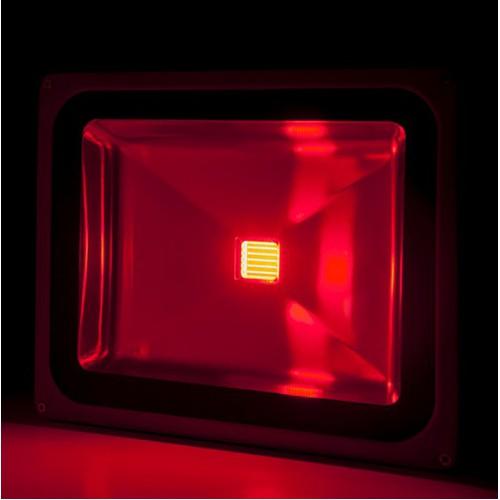 Foco Proyector de LEDs para Exterior BRIC 50W 4250Lm 30.000H Rojo