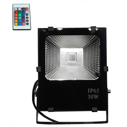Foco Proyector Exterior LED 30W RGB PRO-1-DIMABLE-50.000h