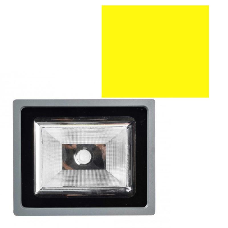 Foco Proyector LED COB 50W Color Amarillo 5000lm Exterior e Interior