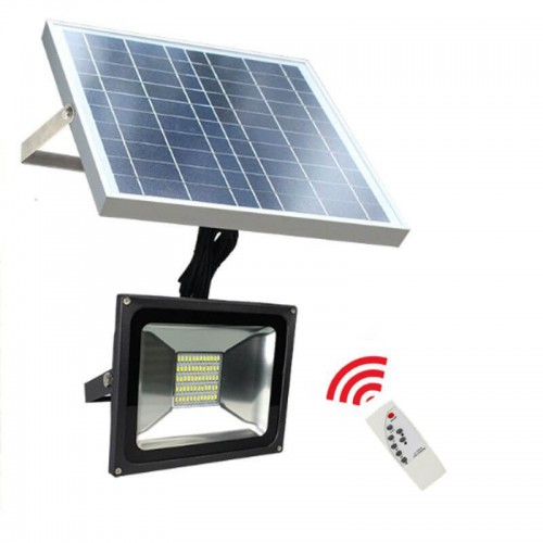Foco Proyector Solar LED para Exterior 20W 1850Lm 35.000H